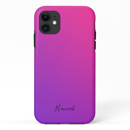 Purple Pink Gradient Personalized iPhone 11 Case