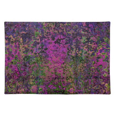 Purple Pink & Green Abstract Place Mats