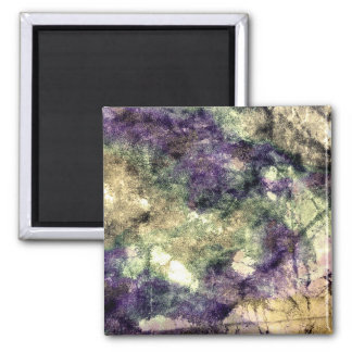 Purple pink green black colourful abstract grunge magnet