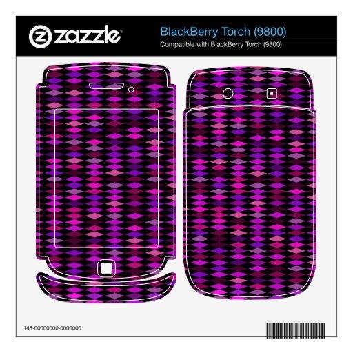 purple pink harlequin pattern BlackBerry torch skins