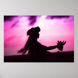 Purple & Pink Hawaiian Poster