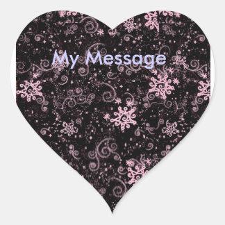 Purple & Pink Jazz Heart Sticker