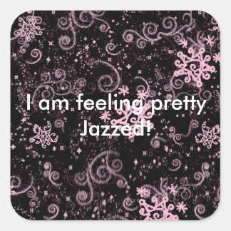 Purple & Pink Jazz Square Sticker