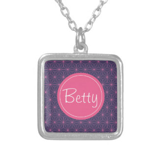 Purple Pink Lazer Silver Plated Necklace