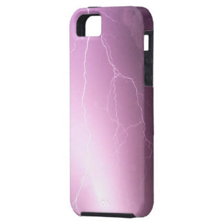 Purple - pink lighting iPhone SE/5/5s case