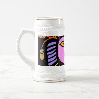 purple pink lion man head with toungue coffee mug