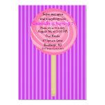 Purple & Pink Lollipop Girls Birthday Invitation