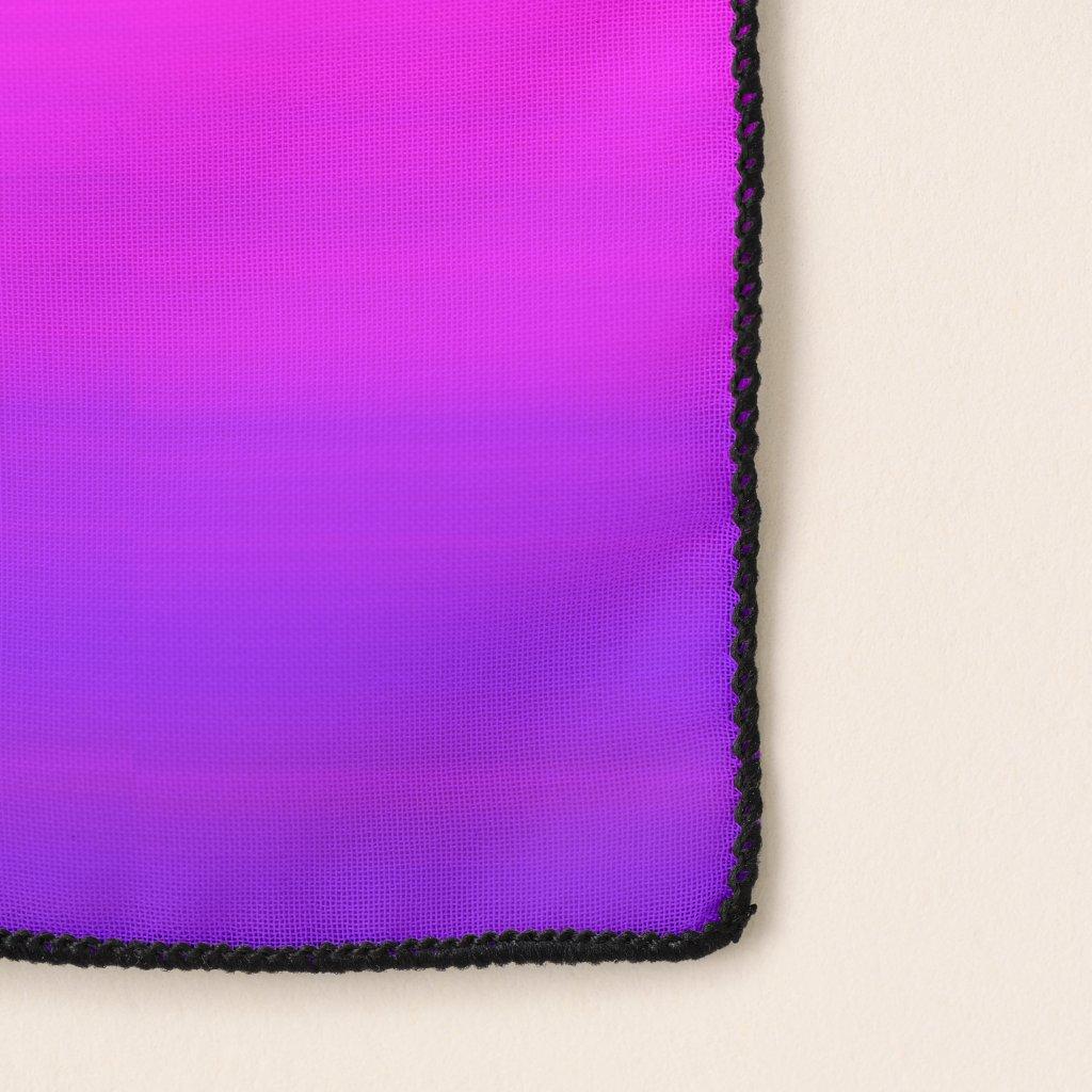 Purple Pink Magenta Abstract Pattern Chiffon Scarf