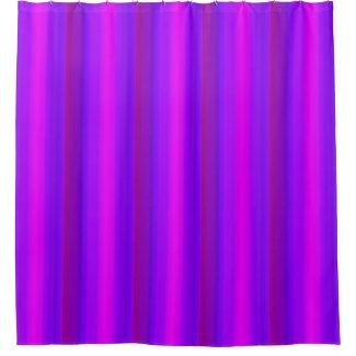 Purple Pink Magenta Blue Stripes Shower Curtain