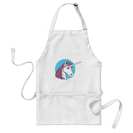 purple/pink mane unicorn head apron