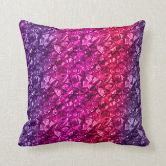 Purple pink mineral style Pillow