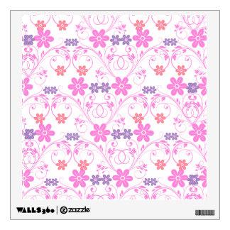 Purple & Pink Modern Floral Wall Sticker