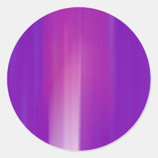 Purple & Pink Motion Blur: Classic Round Sticker