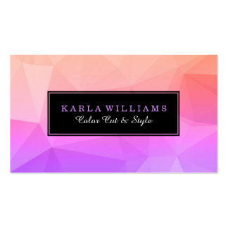 Purple & Pink Octagonal Modern Geometric Pattern Business Card
