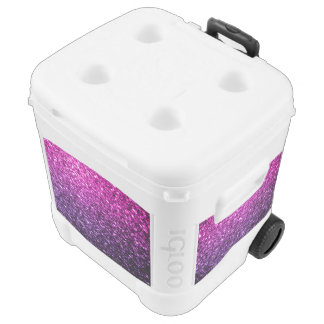 Purple Pink Ombre glitter sparkles Rolling Cooler