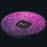 """Purple Pink Ombre glitter sparkles Sweet 16 Paper Plate<br><div class=""""desc"""">Sweet Sixteen collection by PLdesign: Beautiful girly glamorous pink and purple gradient shiny glitters sparkles. Photo of pink and purple sparkles not actual glitter!</div>"""
