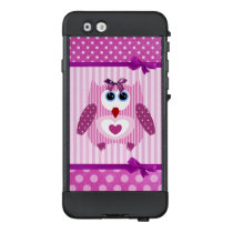 Purple Pink Owl Cute Cell Phone Case