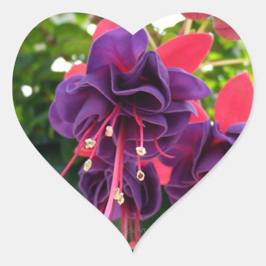 Purple Pink Passion Heart Sticker