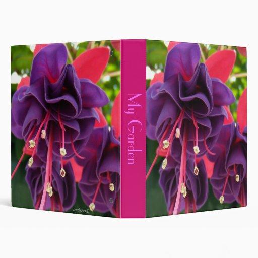 Purple Pink Passion Vinyl Binder