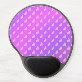 Purple Pink Pastel Bunny Background Bunnies Gel Mouse Pad