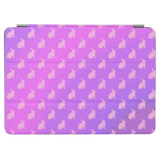 Purple Pink Pastel Bunny Background Bunnies iPad Air Cover