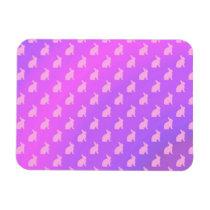 Purple Pink Pastel Bunny Background Bunnies Magnet