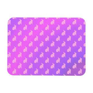 Purple Pink Pastel Bunny Background Bunnies Magnet