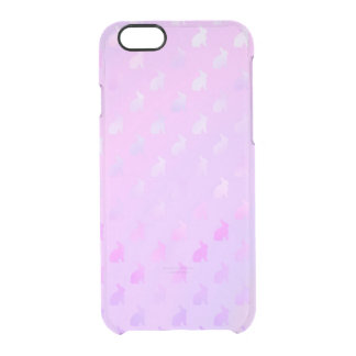 Purple Pink Pastel Bunny Background Faux Foil Uncommon Clearly™ Deflector iPhone 6 Case