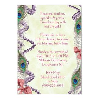 Purple/Pink Peacock Invitation