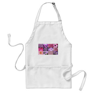 Purple / Pink Photo Collage Adult Apron