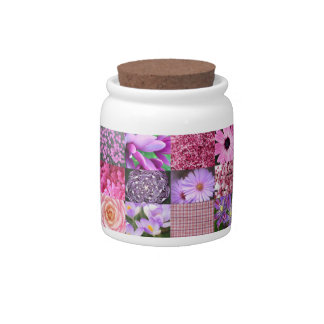 Purple Pink Photography Collage Candy Jar