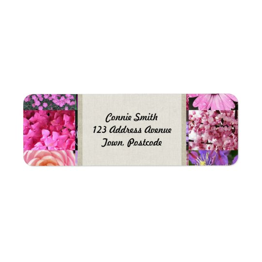 Purple Pink Photography Collage Label
