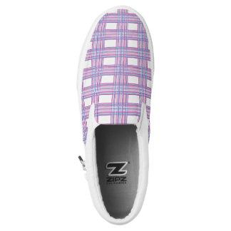 purple pink plaid shoes