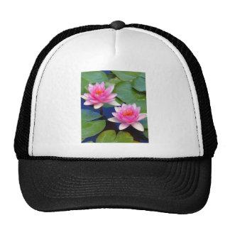 Purple Pink Pond Lillies Mesh Hat