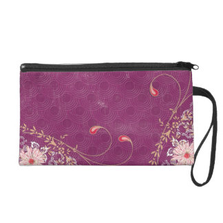 Purple Pink Red Wristlet Bag