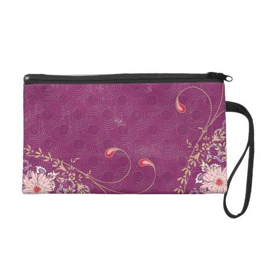Purple Pink Red Wristlet Bag Wristlet Purses