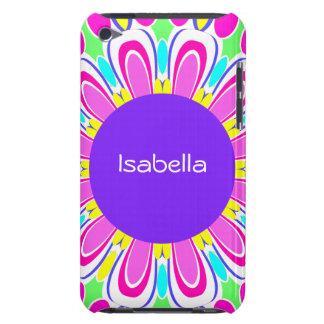 Purple Pink Retro Flower Custom iPod Touch Case