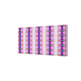 purple pink ribbon abstract canvas print