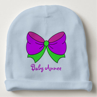 Purple Pink Ribbon- Baby Beanie/Hat Baby Beanie