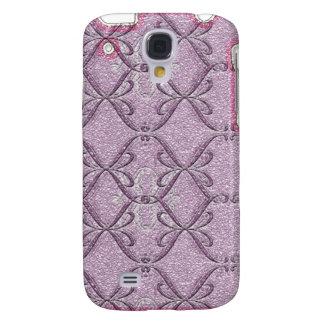 Purple Pink Ribbon Love iPhone3G Galaxy S4 Case