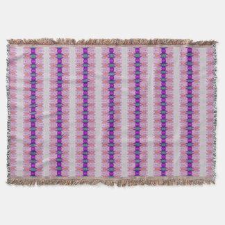 Purple Pink Ribbon patten Throw