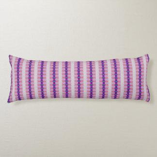 Purple pink ribbon pattern body pillow