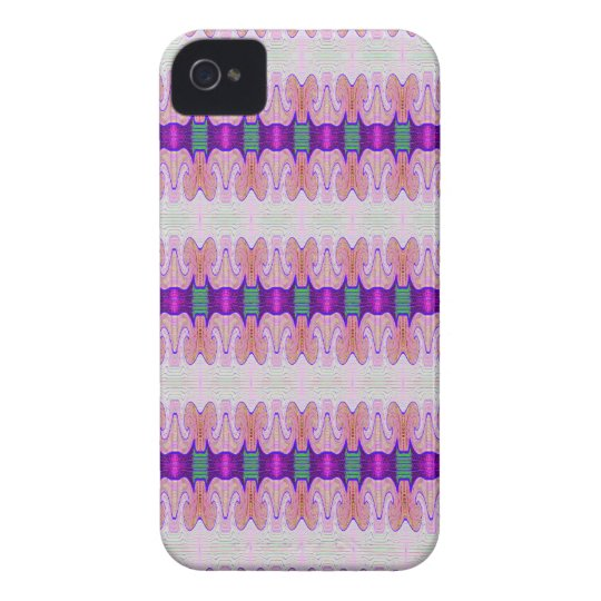 Purple Pink Ribbon Pattern iPhone 4 Case-Mate Case