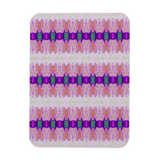 purple pink ribbon pattern magnet