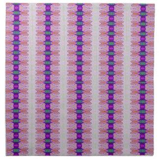 purple pink ribbon pattern printed napkin