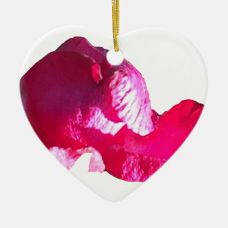 Purple Pink Rose Bud Flowers Ceramic Ornament