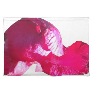 Purple Pink Rose Bud Flowers Cloth Placemat