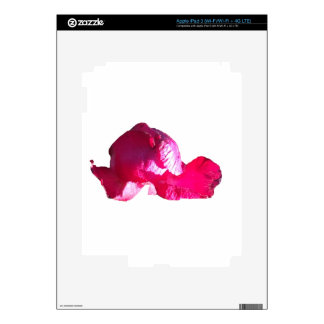 Purple Pink Rose Bud Flowers Decals For iPad 3