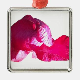 Purple Pink Rose Bud Flowers Metal Ornament