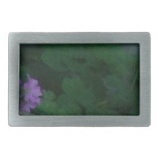 Purple Pink Shamrock Clover Flowers Belt Buckle
